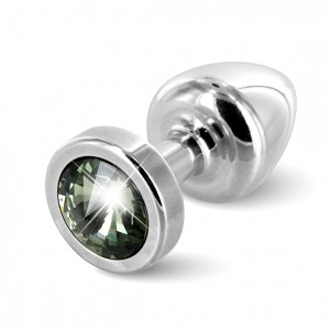 Diogol - Anni Butt Plug Round 25 mm Silver & Black