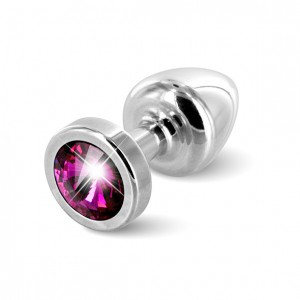 Diogol - Anni Butt Plug Round 25 mm Silver & Pink