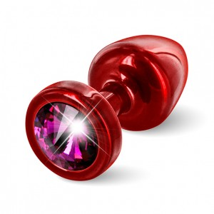 Diogol - Anni Butt Plug Round 25 mm Red & Pink