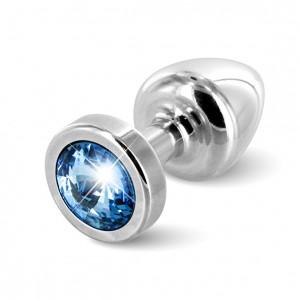 Diogol - Anni Butt Plug Round 25 mm Silver & Blue