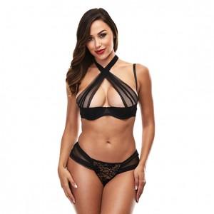 Baci - Criss Cross Bikini Set Black S/M