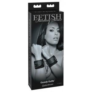 Roku dzelži Ērti Melni Fetish Fantasy Series Limited Edition