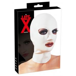 Maska ar izgriezumiem balta Late X