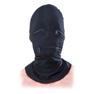 FFS Zipper Face Hood Black