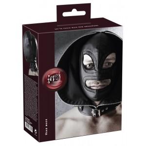 Dubultā sejas maska melna fetish Collection