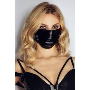 Sejas maska ar Spiedpogām Noir