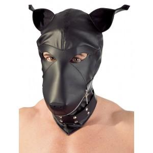 Imitation leather dog mask