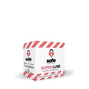 SAFE SUPER LUBE CONDOMS 5PC