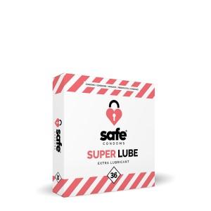 SAFE SUPER LUBE CONDOMS 36PC