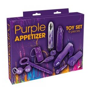 Seksa rotaļlietas komplekts Purple Appetizer 9-piece set