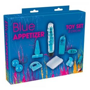 Blue Appetizer 8-piece set