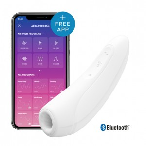 Satisfyer - Curvy 1+ Air Pulse Stimulator + Vibration White