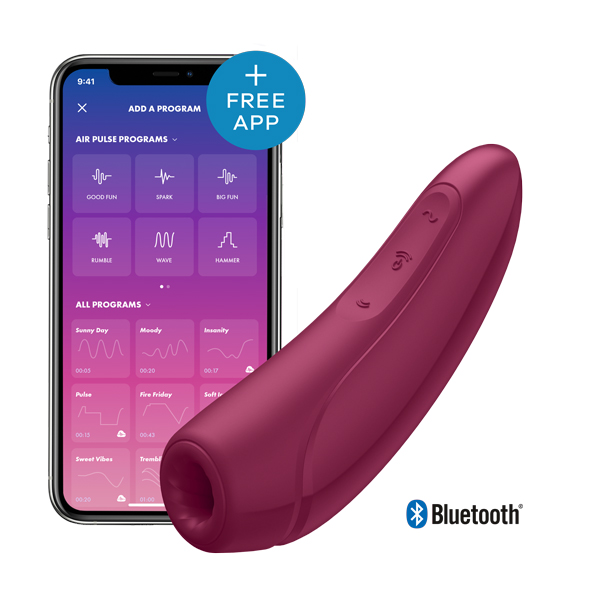 Satisfyer - Curvy 1+ Air Pulse Stimulator + Vibration Red